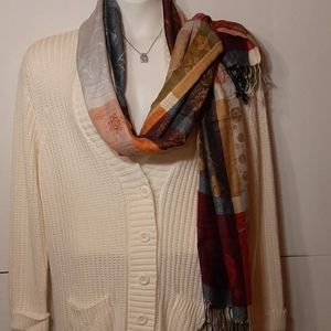 White buttoned down cardigan